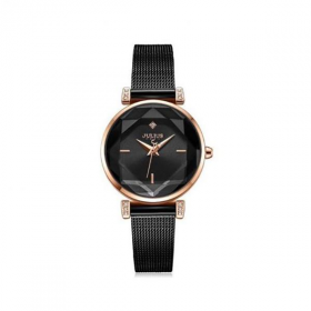 Đồng hồ nữ ja-1214d Julius Hàn Quốc dây thép (đen)