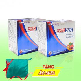 Combo 2 hộp viên uống bổ sung vitamin, giảm mệt mỏi - Tặng 1 áo mưa dù cao cấp - Robvita H100v