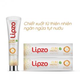 Kem đánh răng thảo dược Lipzo Gum Protect 185g - ngừa tụt lợi, hôi miệng, viêm họng
