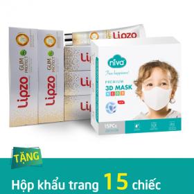 Mua 05 kem đánh răng Gum Protect 185g tặng 01 hộp 15 chiếc khẩu trang Niva 3D trẻ em