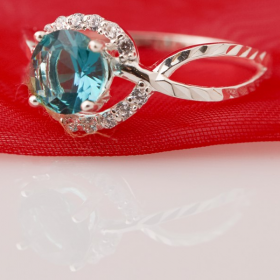 Nhẫn bạc đính đá Ross - Opal - RT5-09
