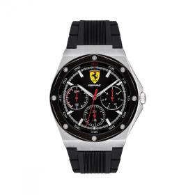 Đồng hồ Ferrari 0830537 nam dây cao su lịch thứ ngày 41mm