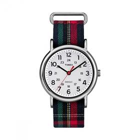 Đồng hồ Unisex Timex Weekender Blue Plaid Fabric Slip-Thru Strap TW2R10900