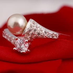 Nhẫn bạc đính ngọc trai - Opal - RPT6-07