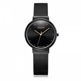 Đồng hồ nữ Julius Hàn Quốc JA-426LE dây thép ( Đen )