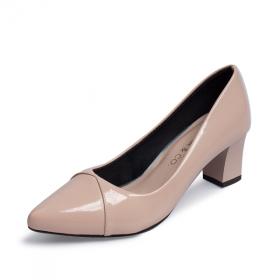 Giày cao gót Erosska thời trang mũi nhọn đế vuông kiểu dáng đơn giản cao 5cm EP004
