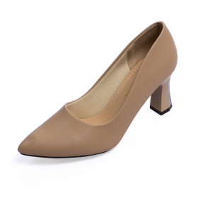 Giày cao gót Erosska thời trang mũi nhọn gót vuông kiểu dáng cơ bản cao 5cm EP007