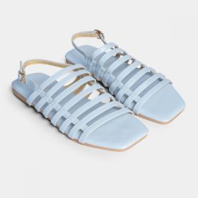 Giày sandal Erosska thời trang mũi vuông phối dây quai mảnh kiểu dáng thanh lịch cao 2cm DE024