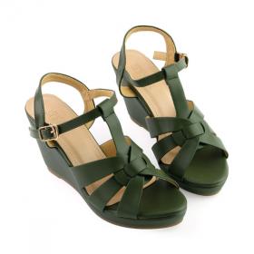 Giày đế xuồng êm chân Sunday DX16 màu xanh rêu