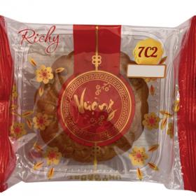 Bánh trung thu Richy - bánh nướng hạt sen hạt chia 02 trứng 210g