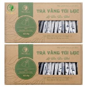 Combo 2 hộp ( 40 gói ) trà vằng túi lọc lợi sữa cho mẹ, giảm mỡ bụng sau sinh Wonmom