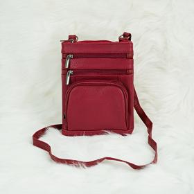 Túi nữ đeo chéo da bò Trip SB68 size S màu đỏ