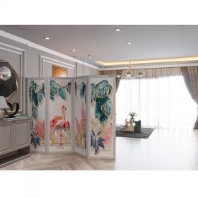 Vách ngăn bình phong, phong thủy  in tranh phong cảnh hiện đại phòng khách (  giá trên cho 4 tấm )