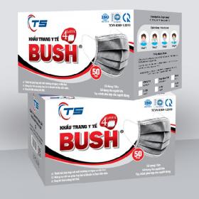 Khẩu trang y tế Bush 4 lớp - Hộp