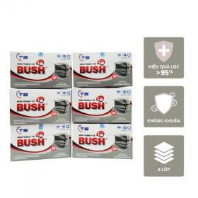 Combo 6 hộp khẩu trang y tế Bush 4 lớp - Hộp