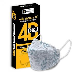 Khẩu trang kháng khuẩn 4D kiểu dáng Hàn Quốc (Hộp 10 cái)