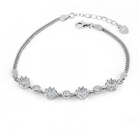 Lắc tay bạc Flower Chain