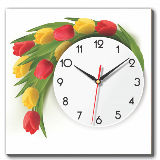 Dyvina 1T4040-55 - Đồng hồ tranh Sắc màu Tulip