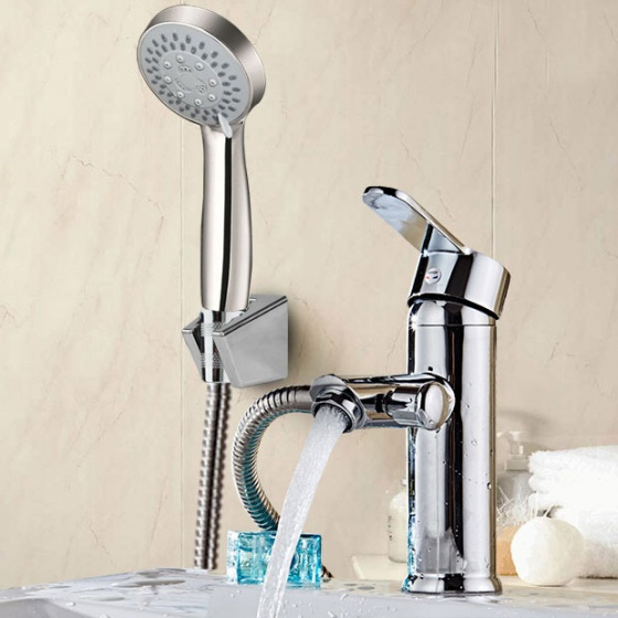 Bộ vòi chậu lavabo kết hợp sen tắm nóng lạnh Zento ZT2041
