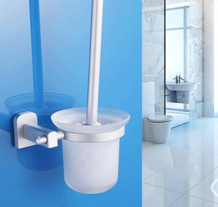 Bộ chổi cọ & kệ đỡ toilet hợp kim nhôm Zento OLO 031