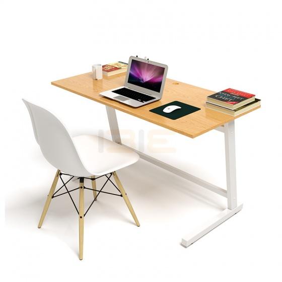 Bộ bàn Oak-Z vân gỗ sồi chân trắng và ghế Eames chân gỗ trắng - IBIE