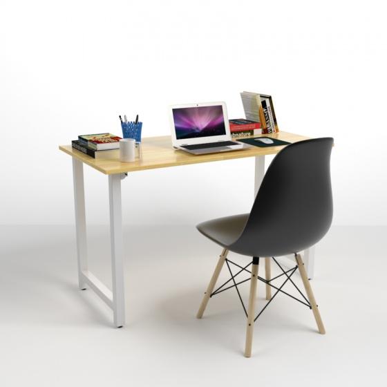 Bộ bàn Rec-T trắng 1m2 và ghế Eames đen - IBIE