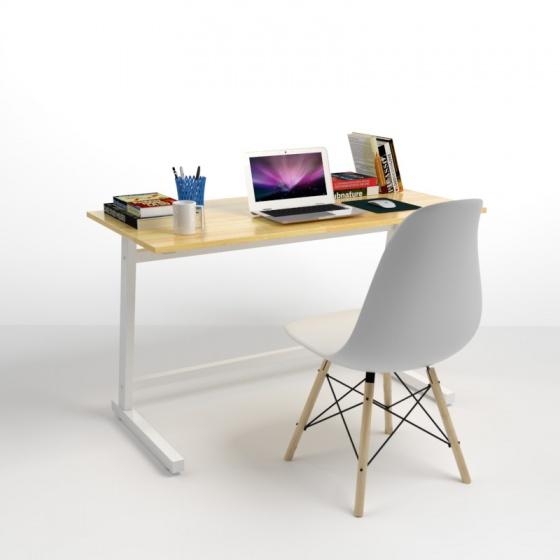 Bộ bàn Rec-Z trắng 1m2 và ghế Eames trắng - IBIE