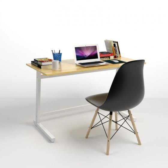 Bộ bàn Rec-Z trắng 1m2 và ghế Eames đen - IBIE