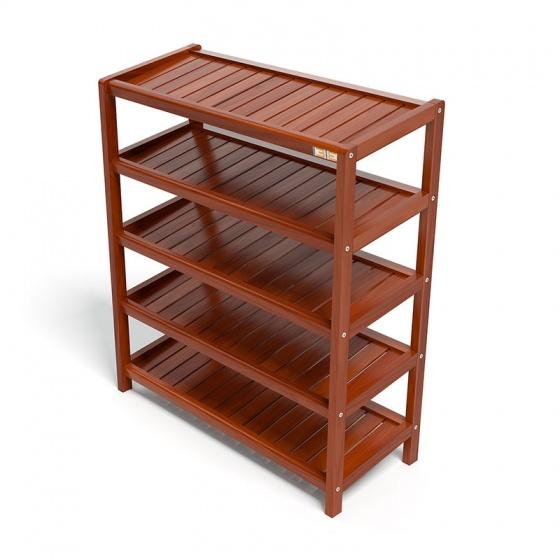 Kệ dép 5 tầng IB573 gỗ cao su 73x30x86 cm màu cánh gián