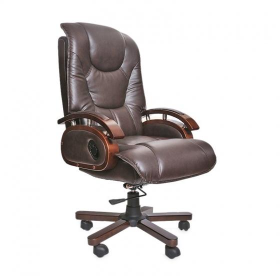 Ghế da Giám đốc IB316 chân gỗ cao cấp màu nâu - IBIE