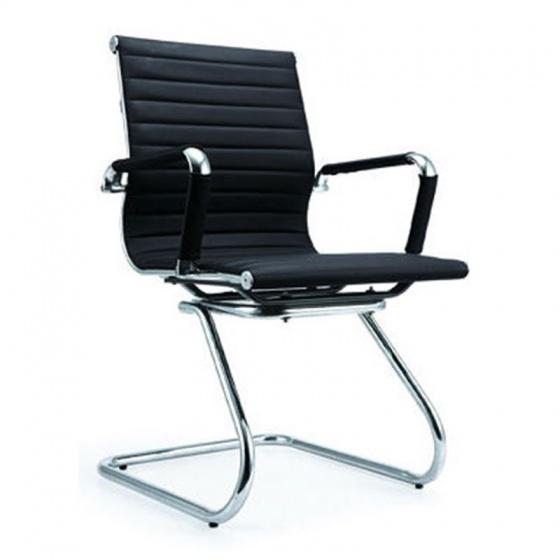 Ghế da IB06GQ chân quỳ cao cấp màu đen - IBIE
