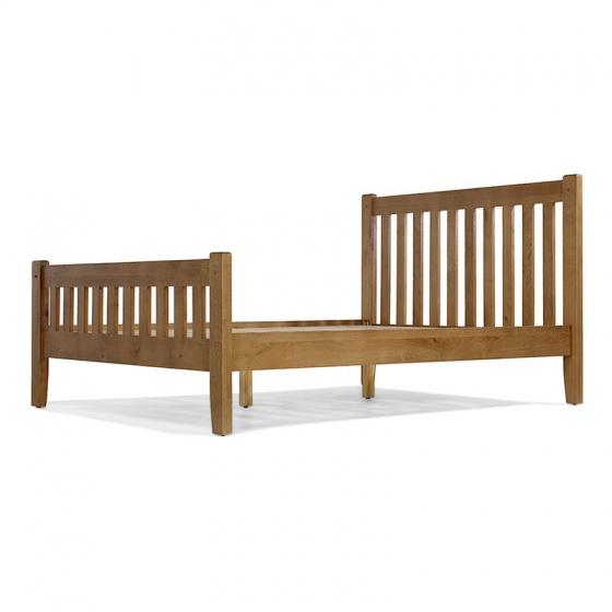 Giường đôi IBIE Rustic gỗ sồi 1m8