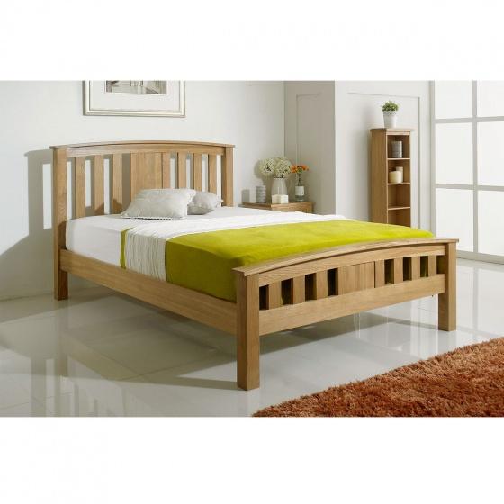 Giường đôi IBIE Royal gỗ sồi 1m4