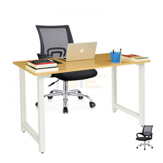 Bộ bàn Oak-T trắng và ghế IB517 đen - IBIE