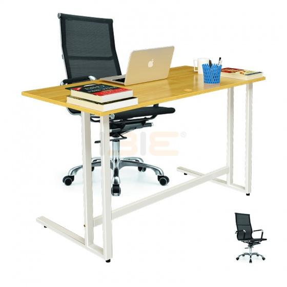 Bộ bàn Rec-U trắng và ghế IB16A đen