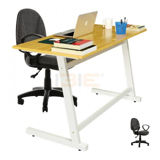Bộ bàn Rec-Z trắng và ghế IB505 có tay đen
