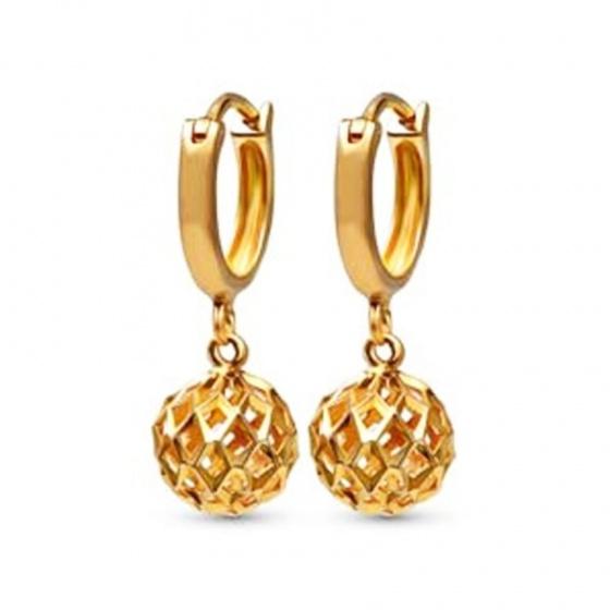 Bông tai đá kim cương nhân tạo mạ vàng 14k - BT551