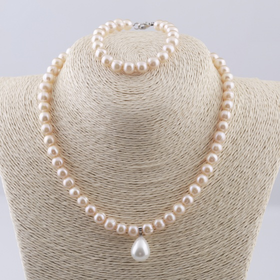 Set vòng cổ và vòng tay ngọc trai tự nhiên Opal sis