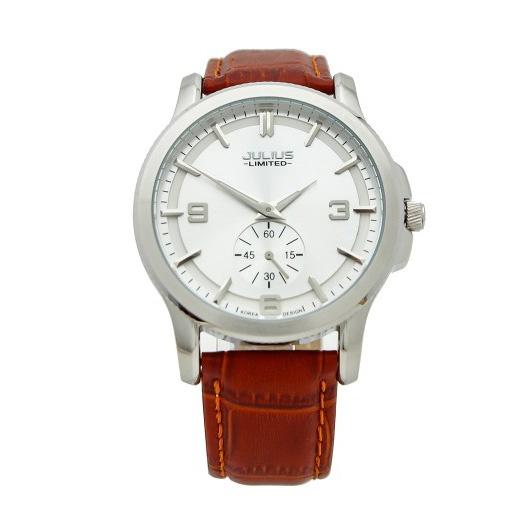 Đồng hồ nam Julius dây da cao cấp JAL-038 JU1072 (nâu)