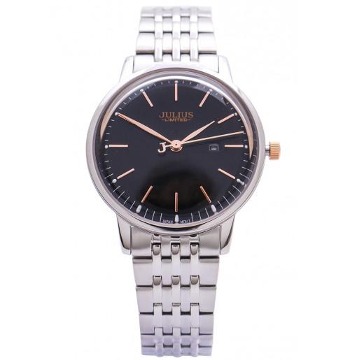 Đồng hồ nữ Julius limited Hàn Quốc dây thép JAL-040 JU1247 (bạc mặt đen)