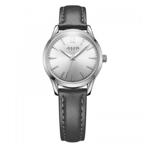 Đồng hồ nữ Julius Hàn Quốc dây da JA-983 JU1207 (đen mặt trắng)