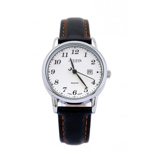 Đồng hồ nữ Julius Hàn Quốc dây da JA-508 JU1200 (đen mặt trắng)
