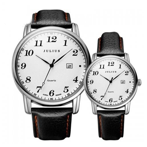 Đồng hồ cặp Julius Hàn Quốc JA-508 JU1200 (đen)