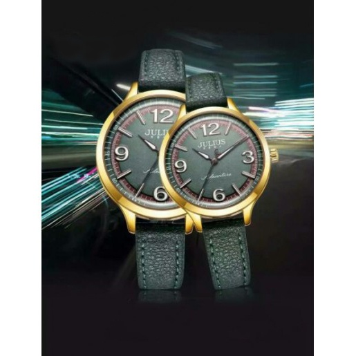 Đồng hồ cặp Julius Hàn Quốc JA-940 JU1181 (xanh rêu)