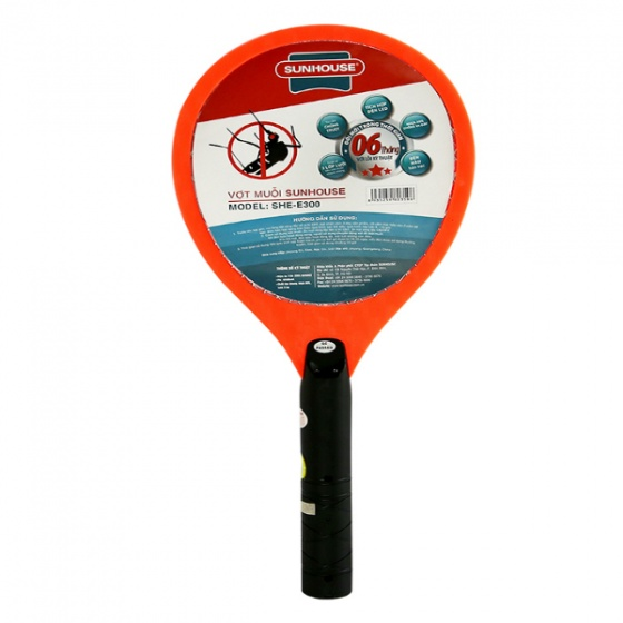 Vợt muỗi Sunhouse SHE-E300 (Cam)