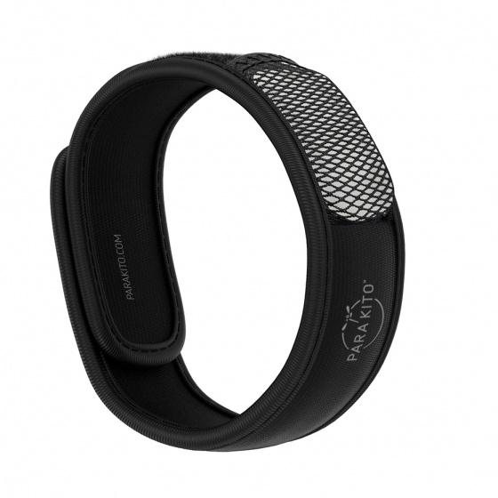 Viên chống muỗi PARA'KITO™ kèm vòng đeo tay bằng vải màu đen (2 viên chống muỗi)