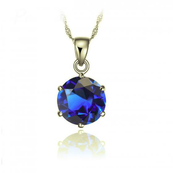 Opal - Mặt dây chuyền đính đá ross xanh T06