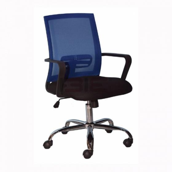 Ghế xoay IBIE IB8313 chân thép mạ màu xanh