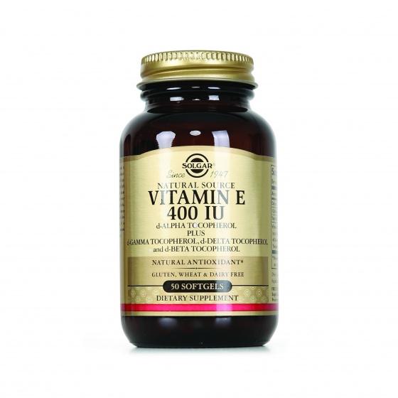 Solgar® Vitamin E 400 IU 50 viên nang mềm - Nhập khẩu USA chính hãng - tặng kèm áo thun