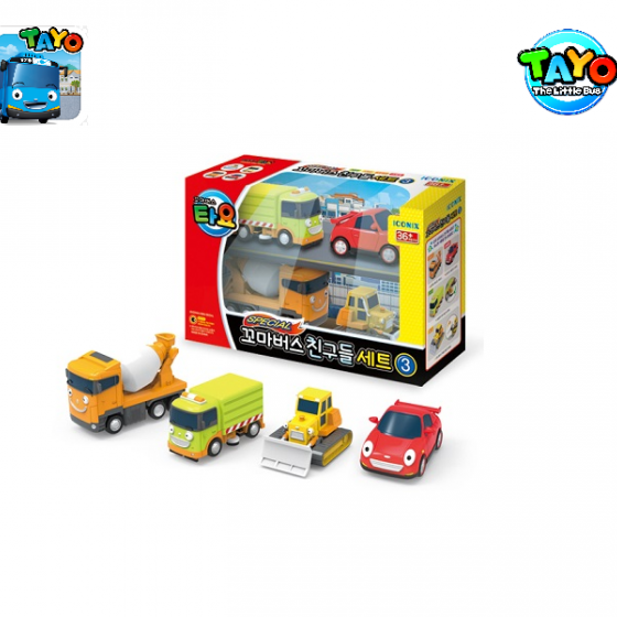 Đồ chơi Tayo Mini Car Set 4 Styles 3 (Billy/Speed/Rubby/Chris)